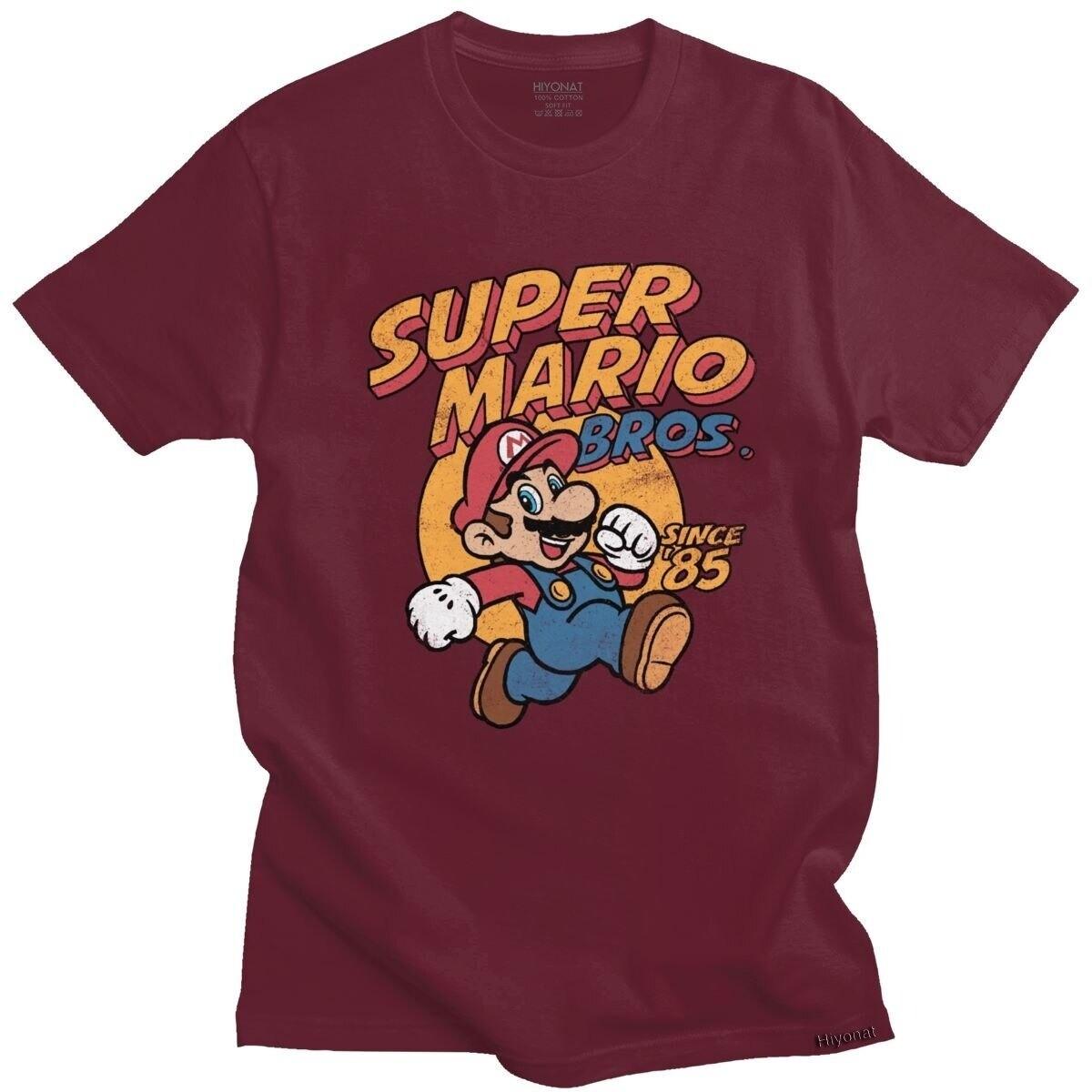 T-shirt Super Mario Bros Retro Nintendo - 7 coloris différents