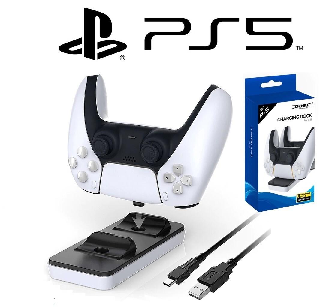 Station de charge Manettes Playstation PS5 DualSense DOBE - Dockstation