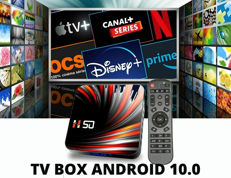 TV Box Android 4K 10.0 - Compatible Europe