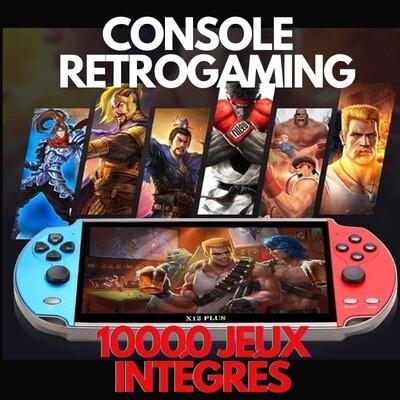 Console Portable Retrogaming 16bits Séries X avec 10000  jeux integrés