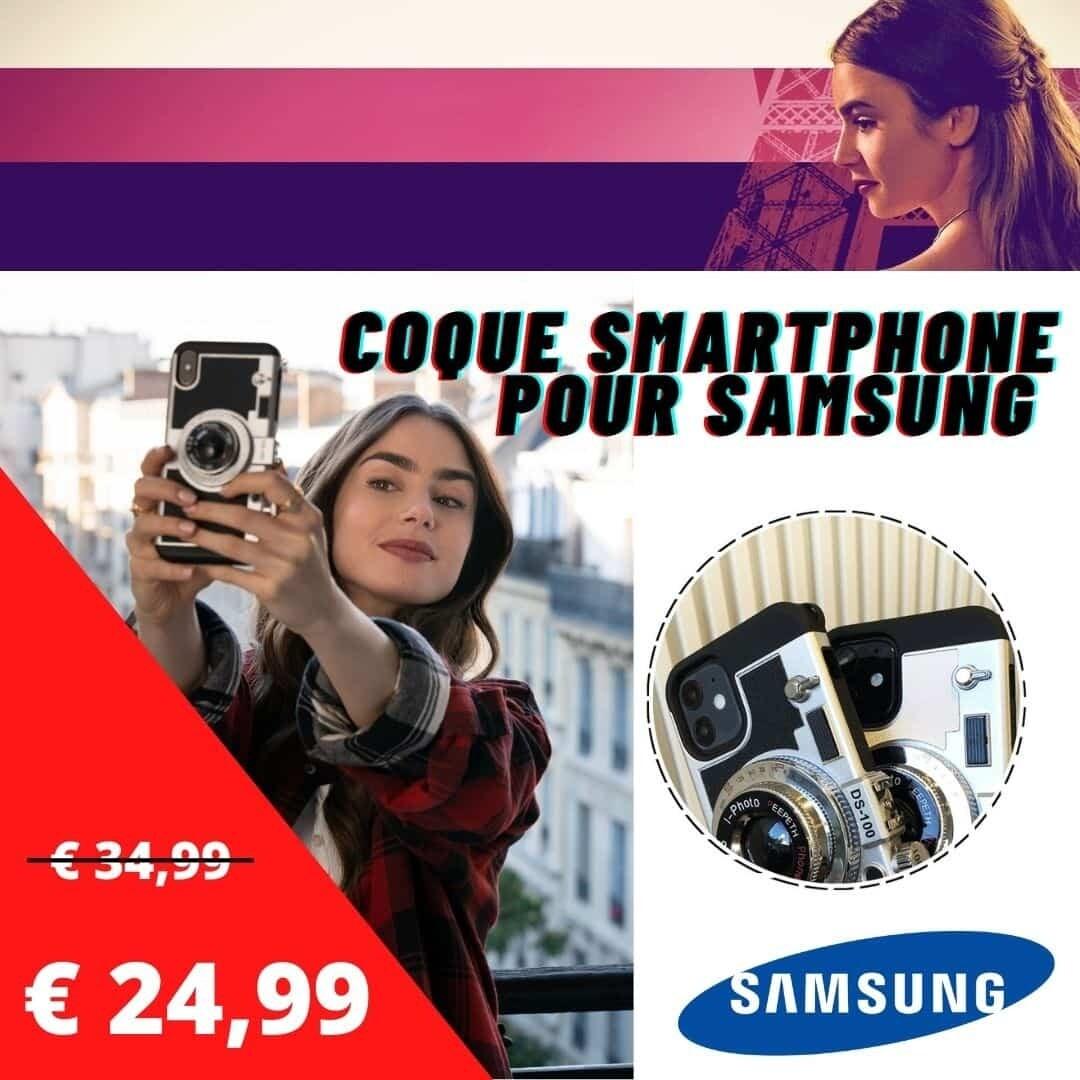 Coque téléphone Emily In Paris look Appareil Photo pour Samsung