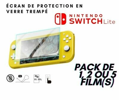 Film de Verre trempé Switch Lite (pack de 1,2 ou 5pc)