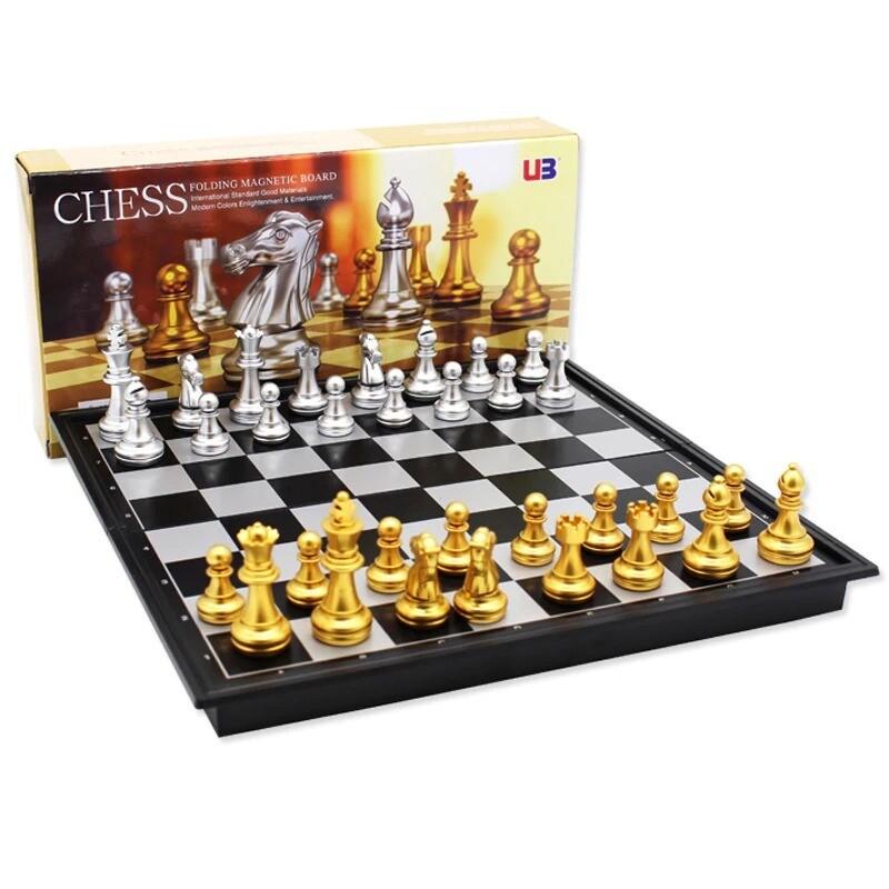 Jeu d'échecs pliable magnétique - Echiquier de 25cm