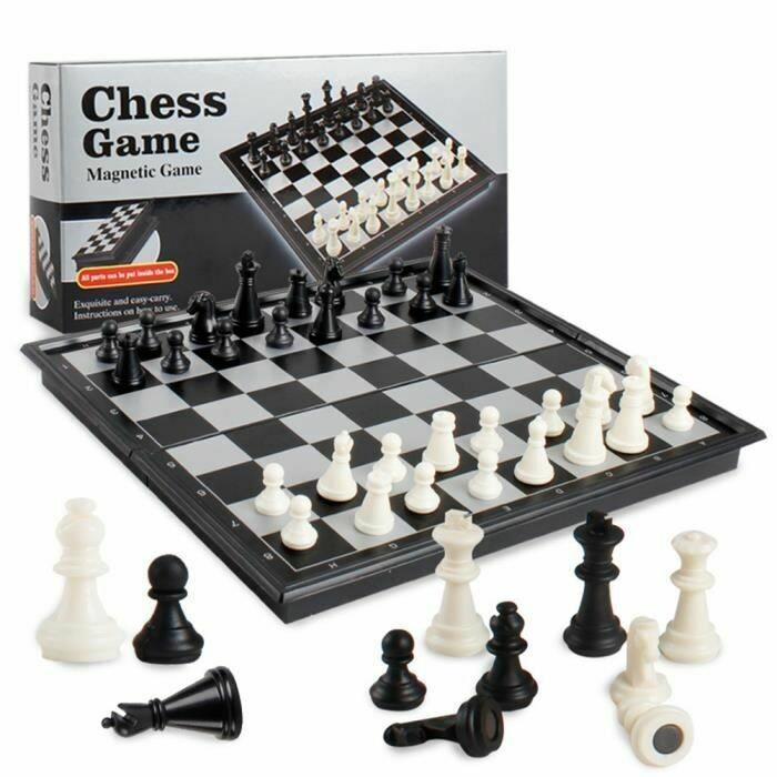 Mini coffret jeu d'échecs pliant 13x13cm