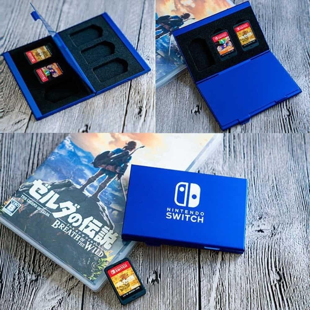 Boîte de rangement en aluminium pour 6 jeux Nintendo Switch