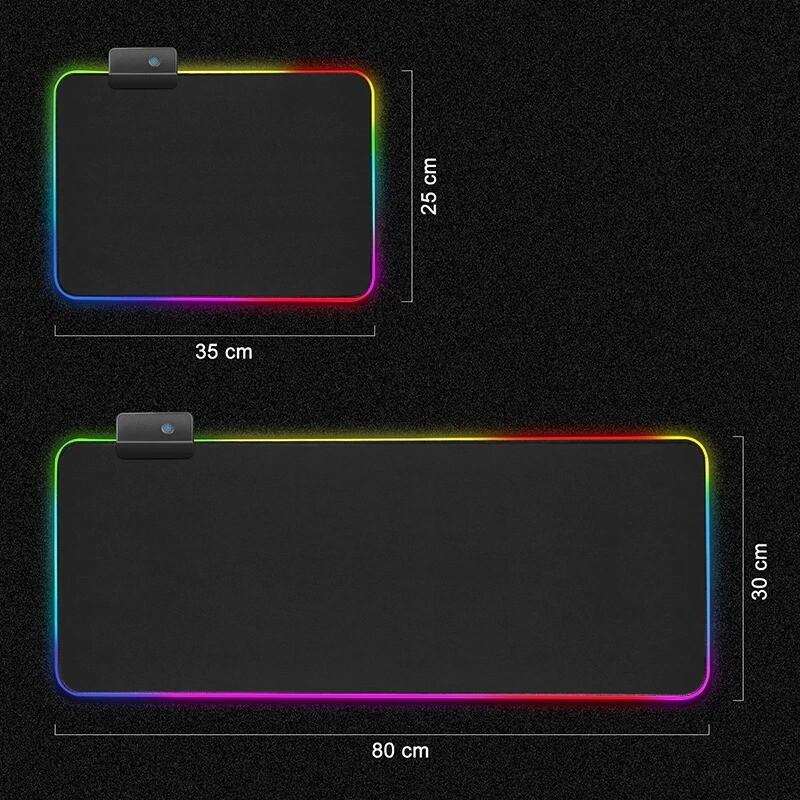 Tapis de souris retro-eclaire LED pro