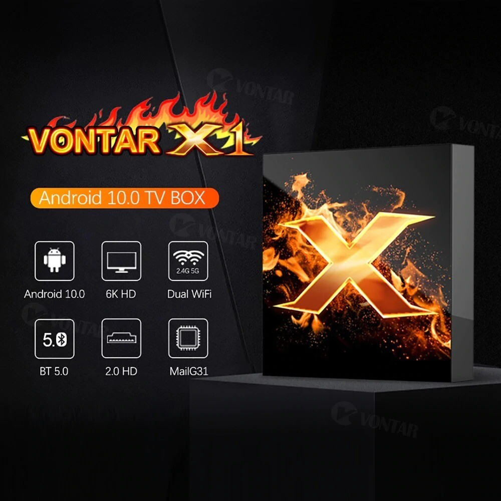Box TV Android 10.0 Vontar | special services VOD