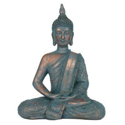 Buddha Ornament Blue And Copper