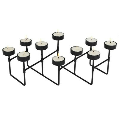 Unusual Expandable Tealight Holder Metal 10 Piece Candelabra