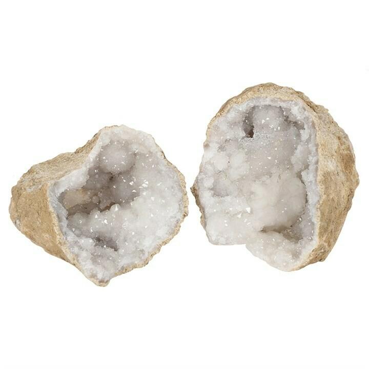Quartz Geode Large White