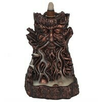 SMALL BRONZE EFFECT TREE MAN BACKFLOW INCENSE BURNER