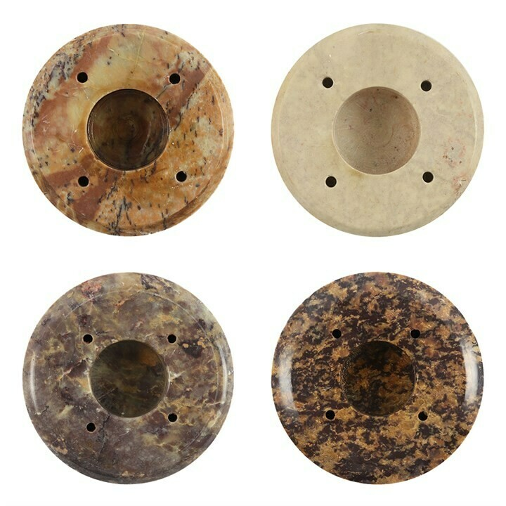 INCENSE STICK HOLDERS SOAPSTONE SET OF FOUR