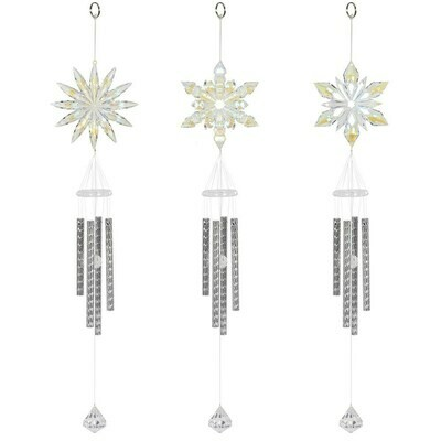 Windchimes Acrylic Snowflake design (set of 3)