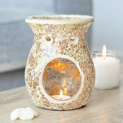 Large Crackle Melts/Oil Burner Gold Flared