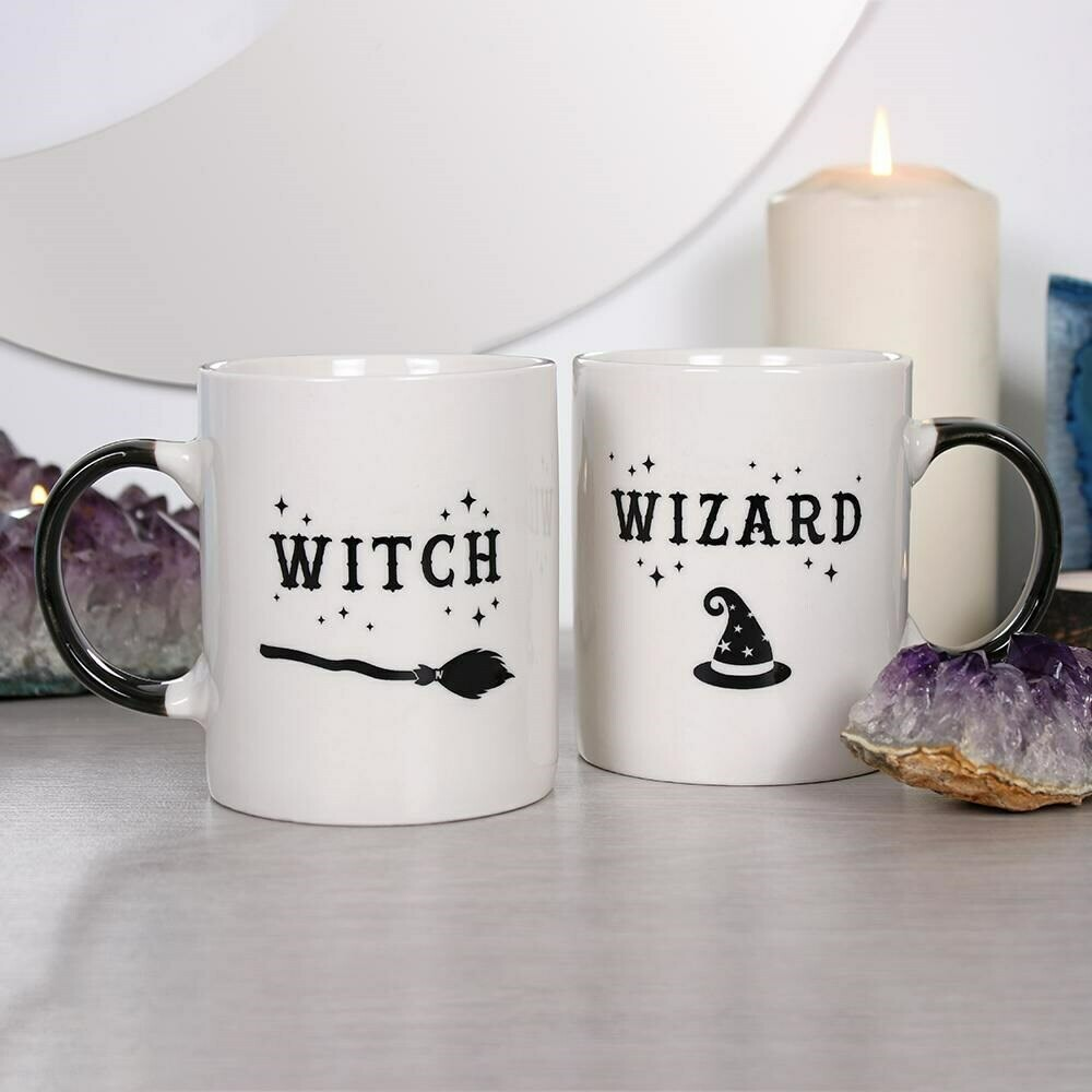 Witch & Wizard Printed Occult Double Mug Gift Boxed Set