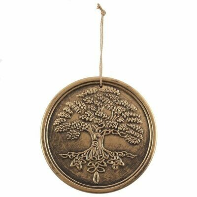 Bronze plaque signs UK Tree of Life Plaque - by Lisa Parker Terracotta Copper Garden Wiccan
