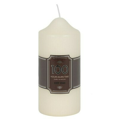 Pillar Candle. Long Lasting Burn Time 100 hrs