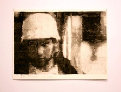 Oliver Voigt - Mind the Gap, Bildserie, Tusche auf Papier, Passpartout gerahmt, jeweils 50 x 60 cm, 2019/20