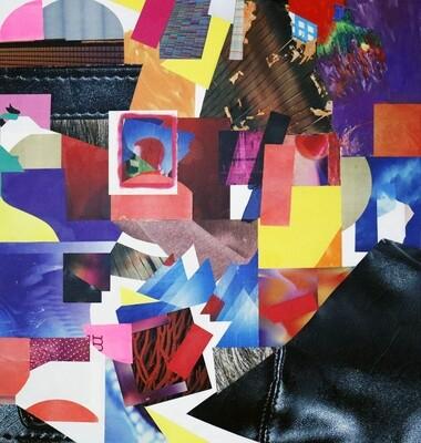 M 107, Collage/ Acryl auf Leinwand, 150 x 150 cm, Manfred Kirschner, 2020
