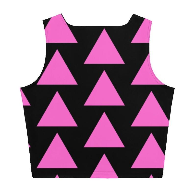 Very Queer Pink Triangle Crop Top