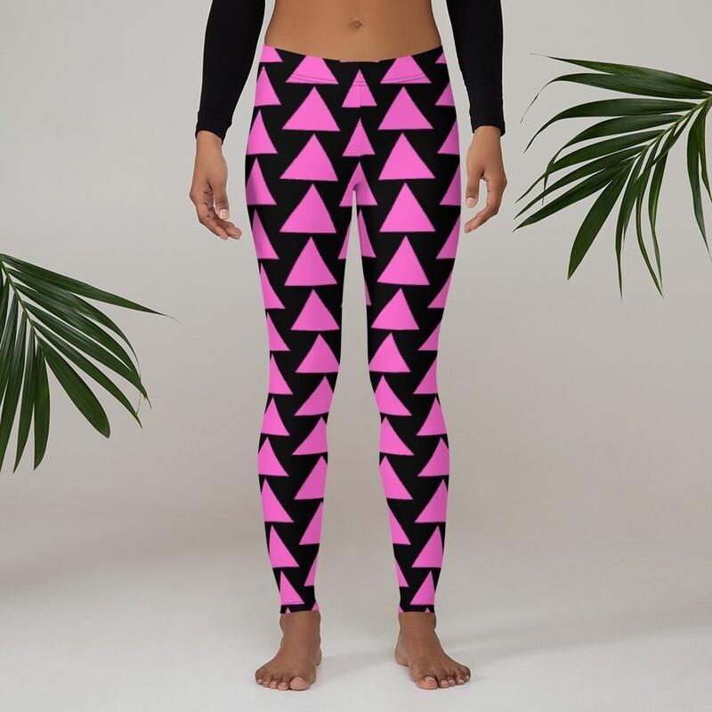Very Queer Pink Triangle Leggings