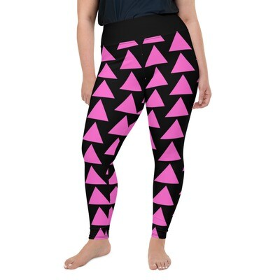 Very Queer Pink Triangle All-Over Print Plus Size Leggings