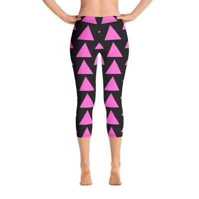 Very Queer Pink Triangle Capri Leggings