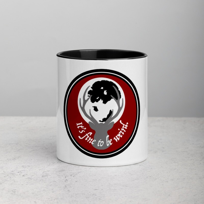 It's Fine To Be Weird Hannibal Mug with Color Inside