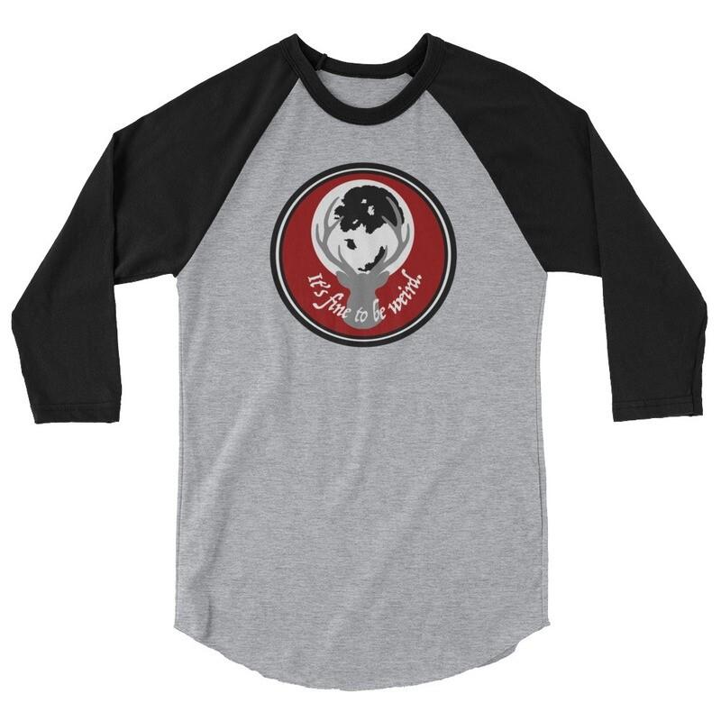 It's Fine To Be Weird Hannibal 3/4 sleeve raglan shirt