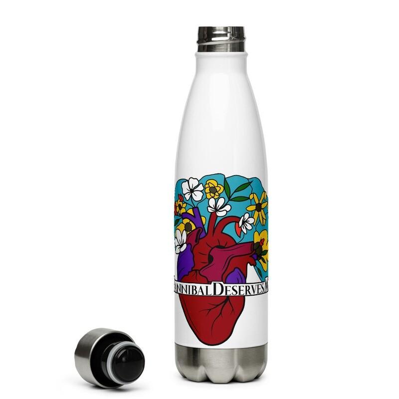 #HannibalDeservesMore Hannibal Fandom Hashtag Stainless Steel Water Bottle