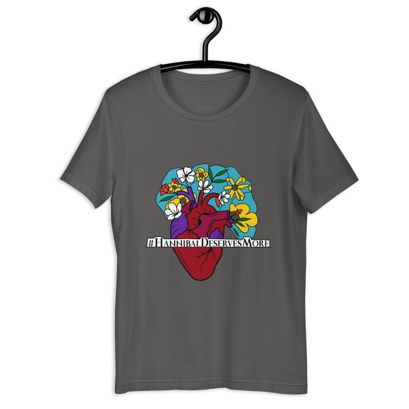 #HannibalDeservesMore Hannibal Fandom Hashtag Short-Sleeve Unisex T-Shirt
