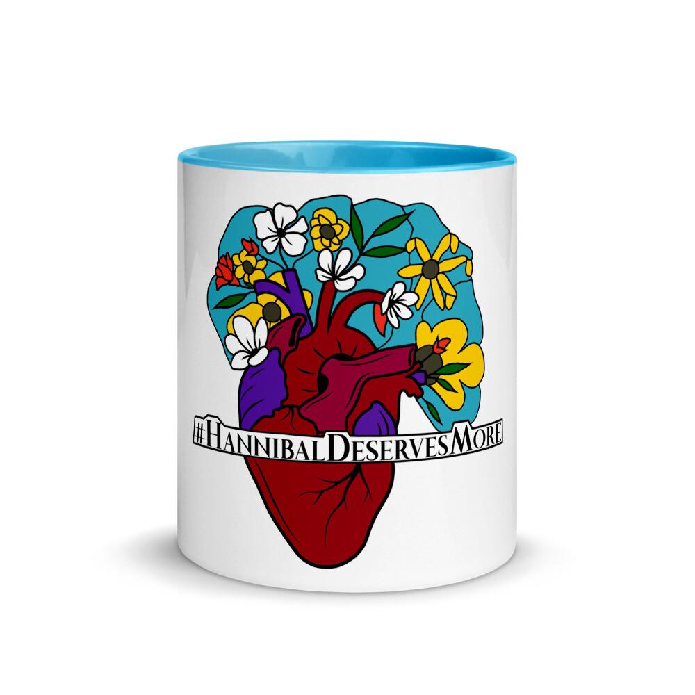 #HannibalDeservesMore Hannibal Fandom Hashtag Mug with Color Inside