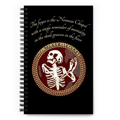 The Norman Chapel Skeleton Hannibal Mind Palace Spiral notebook