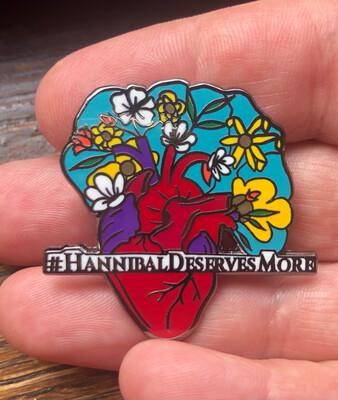 #HannibalDeservesMore Black Metallic Hard Enamel Pin