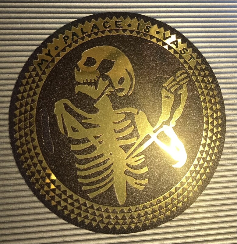 The Norman Chapel Hannibal Mind Palace Gold Metallic Sticker