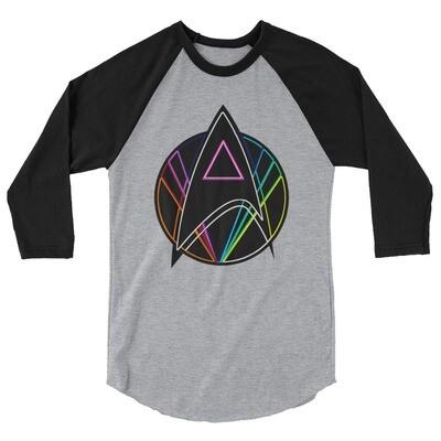 Pink Triangle Queer Star Trek 3/4 sleeve raglan shirt