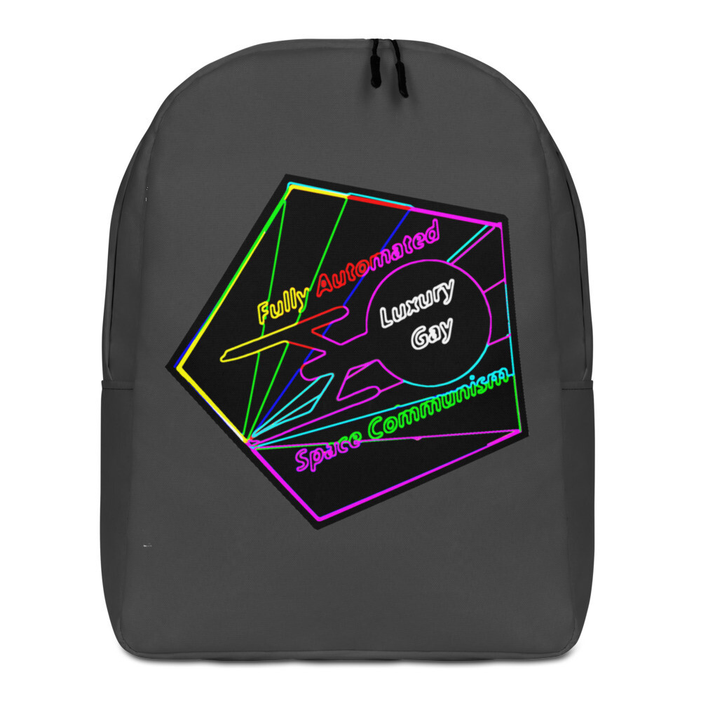 Fully Automated Luxury Gay Space Communism Star Trek Minimalist Backpack