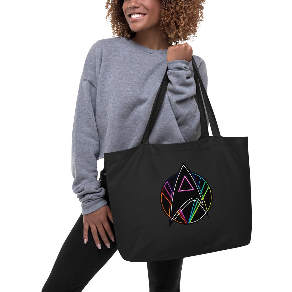 Pink Triangle Queer Star Trek Large organic tote bag
