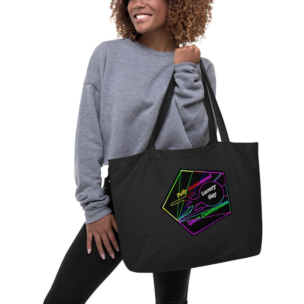 Fully Automated Luxury Gay Space Communism Star Trek Large organic tote bag