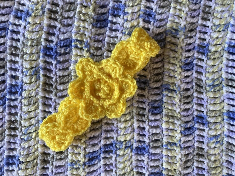 Yellow Headband With Flower