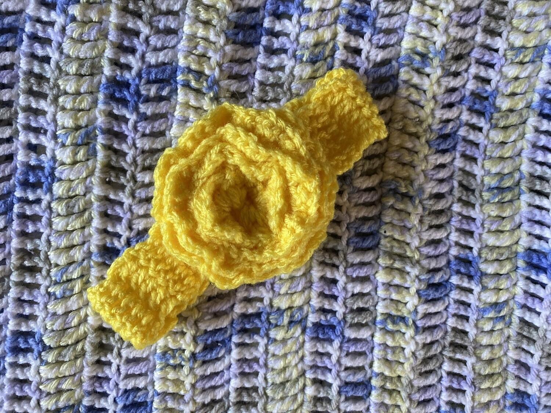 Yellow Headband With Big Flower