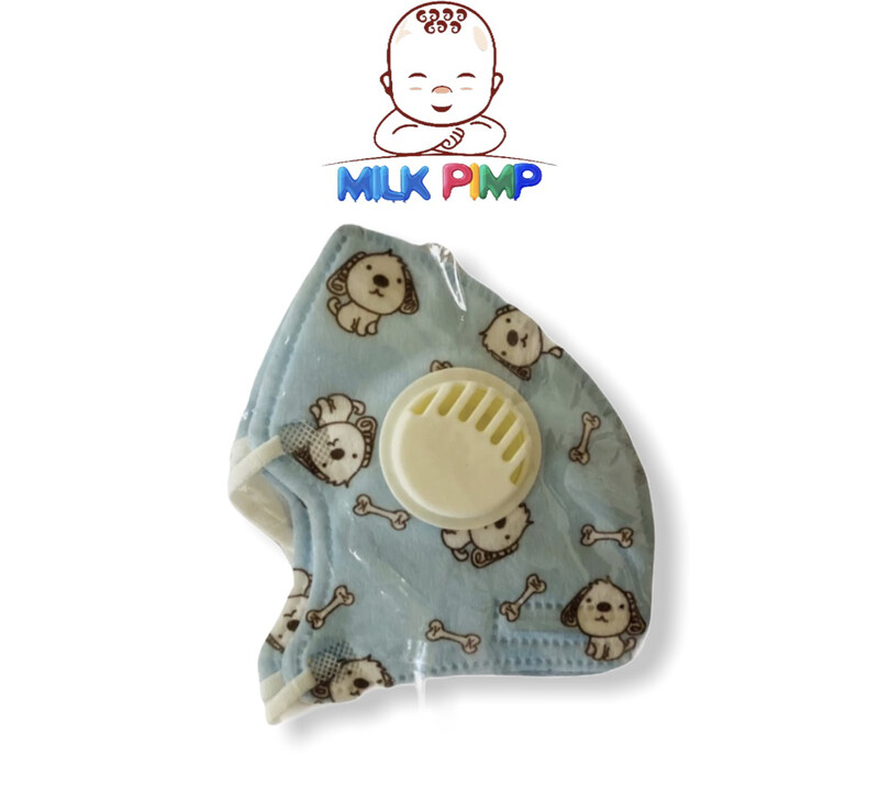 Baby Blue Face Mask W/valve
