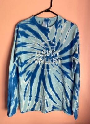 Blue Tie Dye Happy Valley Long Sleeve Tee