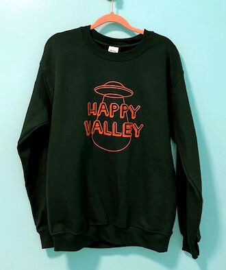 Jade Green Happy Valley Crewneck Sweatshirt