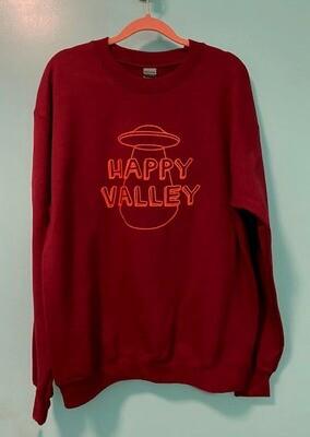 Maroon Happy Valley Crewneck Sweatshirt