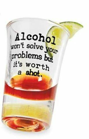 WONT SOLVE Shot Glass
