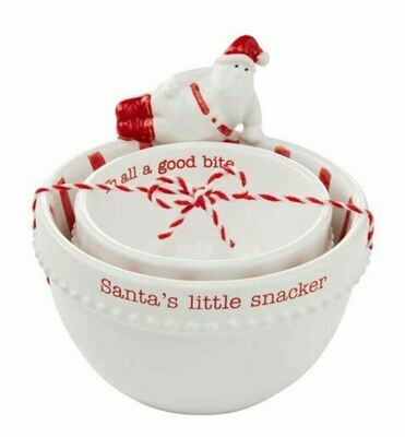 Santa Nested Dip Bowl Set