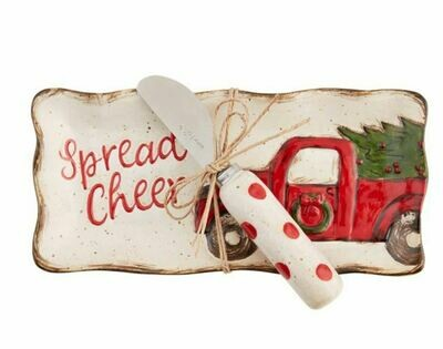 Christmas Farmhouse Butter Dish