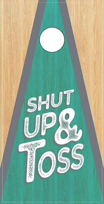 Shut Up & Toss - Green Inside