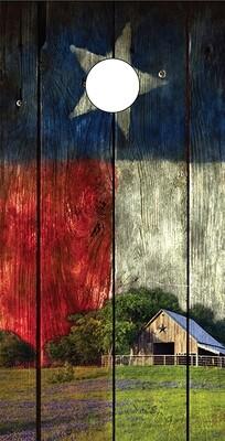 Texas Flag with Barn